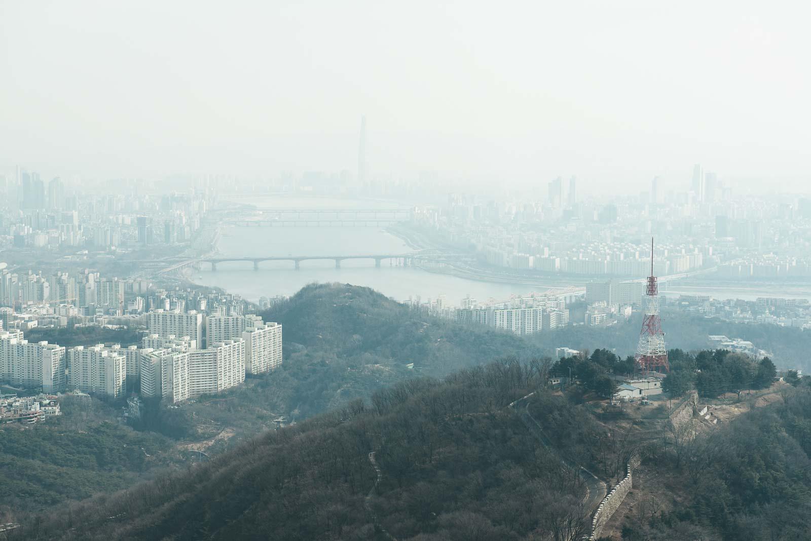 Blick vom N Tower in Seoul