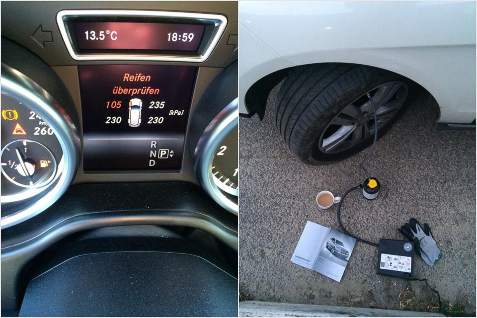 Pleiten Pech und Pannen - ein Reifenpanne in England