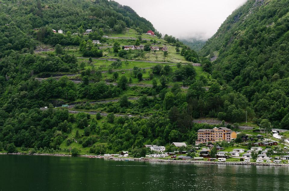 Die Adlerstraße am Geirangerfjord