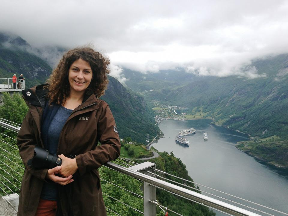 Reisebloggerin am Geirangerfjord
