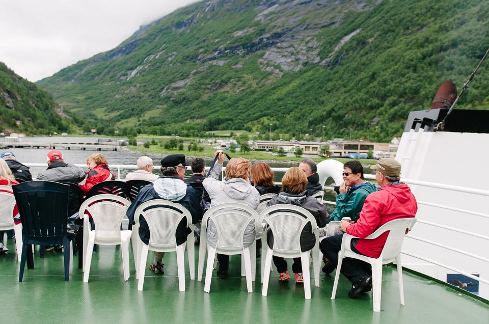 mit der Autofähre durch den Geirangerfjord