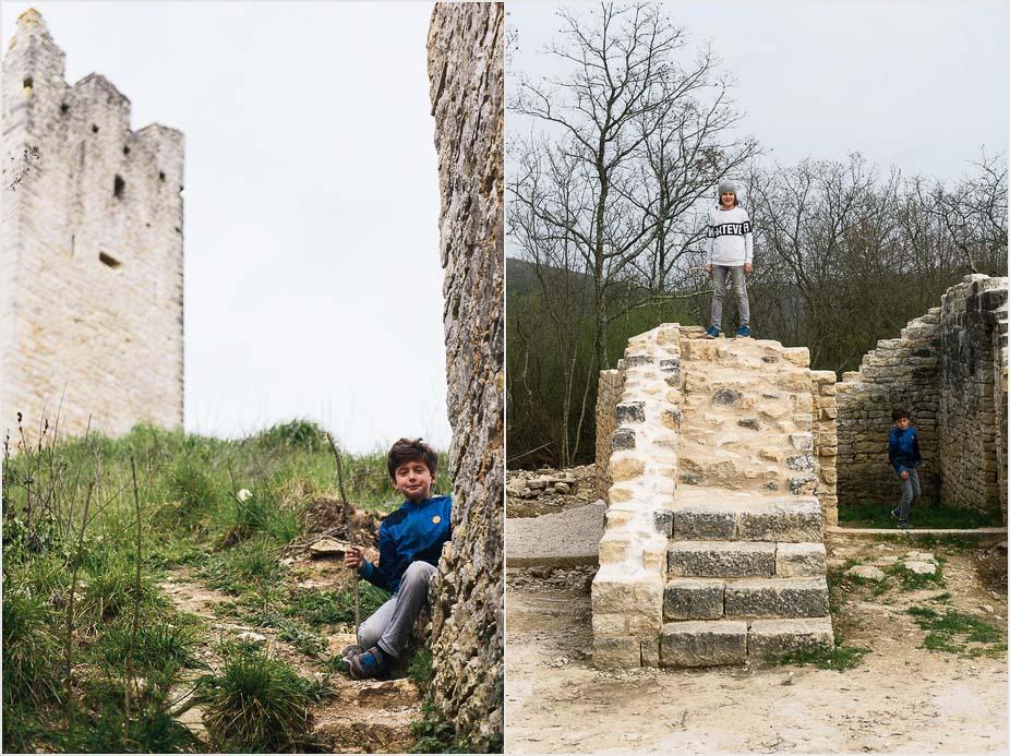 Kroatien mit Kindern, Ruinenstadt Dvigrad