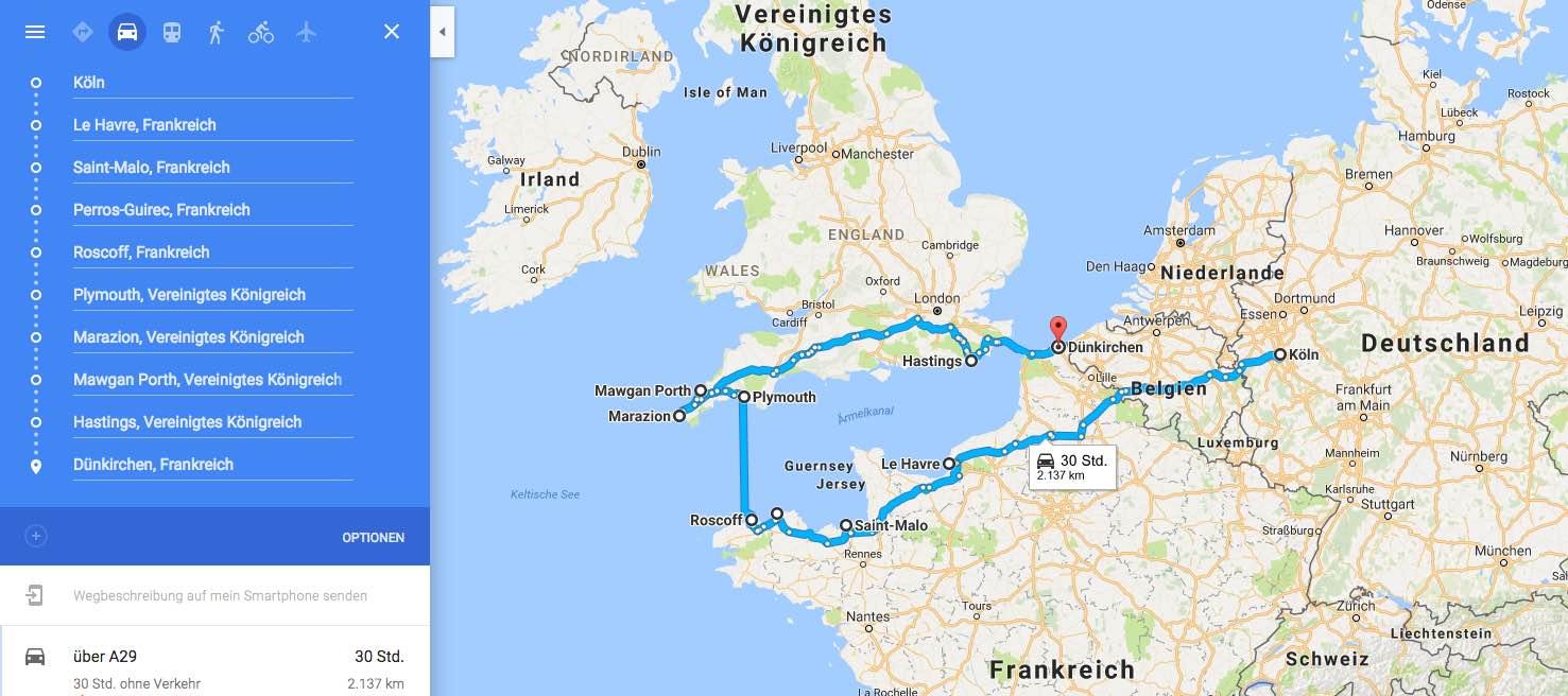 Mit dem Auto durch Südengland und Cornwall