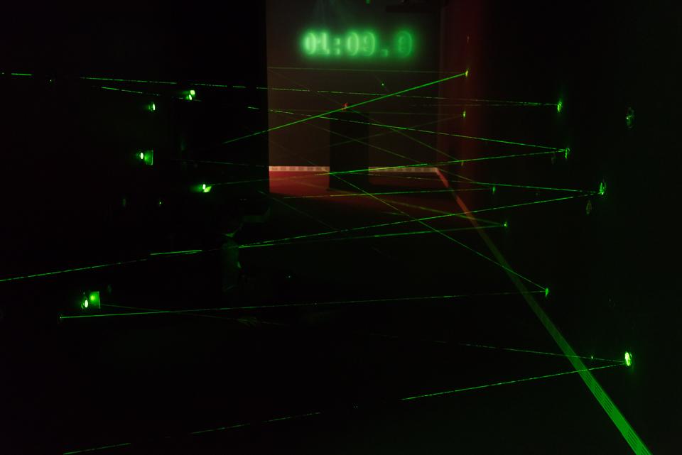Laserparcours im Deutschen Spionagemuseum