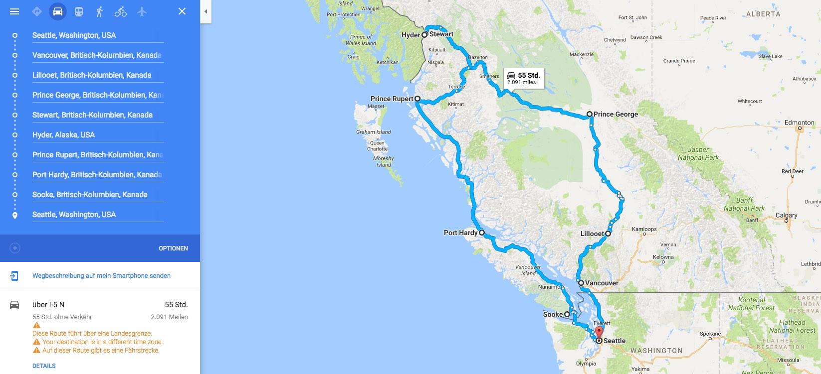 Roadtrip USA und Kanada - 5 Wochen mit dem Auto und zwei Kindern ...